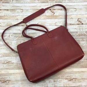 Levenger Leather Multi Compartment Laptop Bag